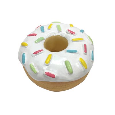 fouFIT Donut Squeak Toy - White