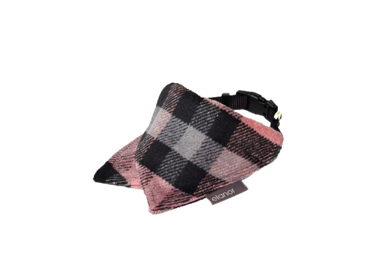 Pink Plaid Collar Bandana