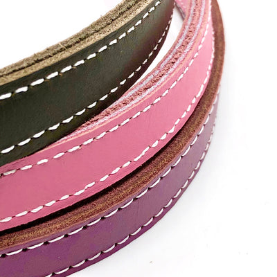 "Single Stitch Leather Lead - 3/4"" width"