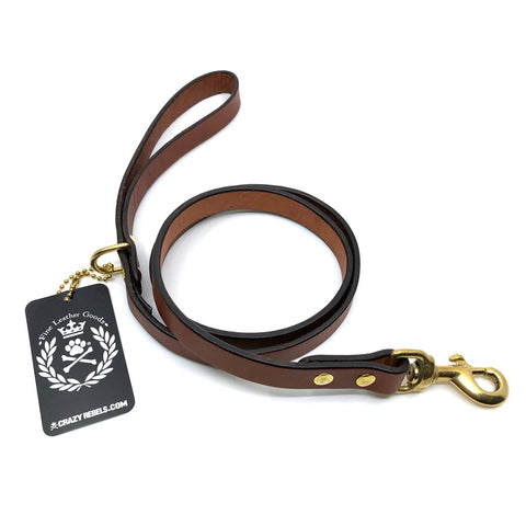 Crazy Rebels Classic Leather Leash