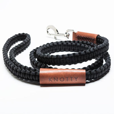 KNOTTY Classic Black Leash