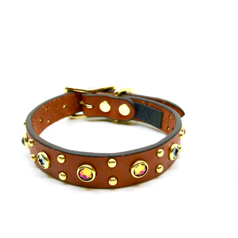 Crazy Rebels Leather Calypso Collar