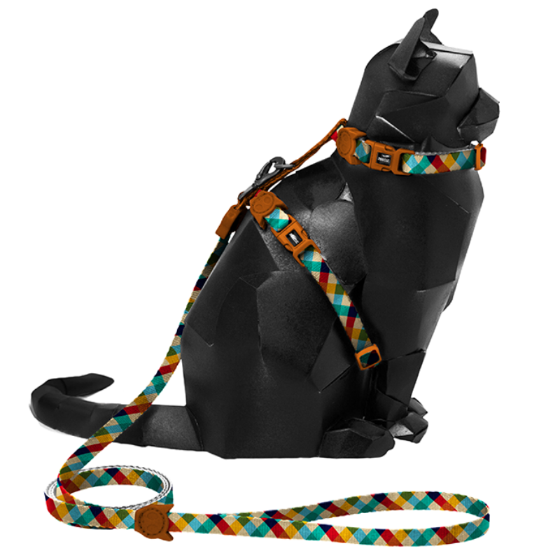 Zee.Cat Harness & Leash Combo - Phantom