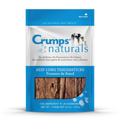 Crumps' 100% Natural Beef-Lung Tendersticks Front of 120g Package