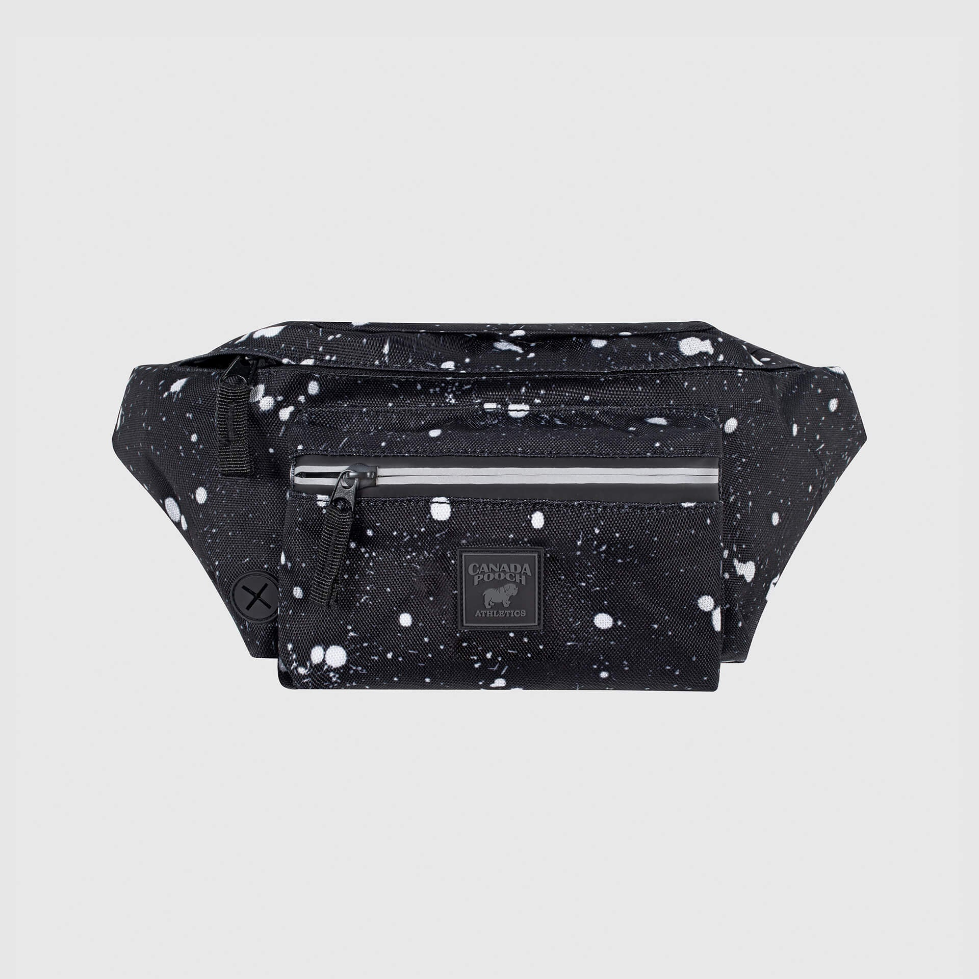The Everything Fanny Pack in Black Splatter