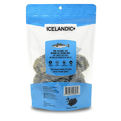 ICELANDIC+ All-Natural Cod Skin Rolls (30pcs) Back of Package