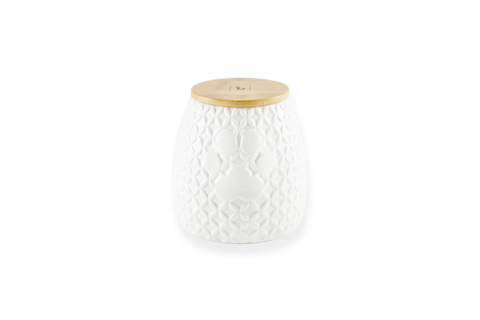 White Ceramic Treat Jar