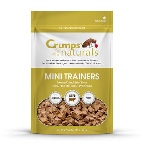 Crumps' Naturals Beef Liver Mini Trainers Front of Package