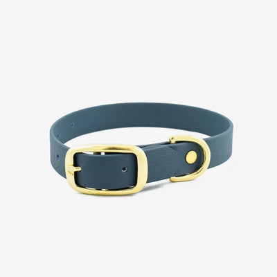 Vegan Leather Collar - Oxford Blue