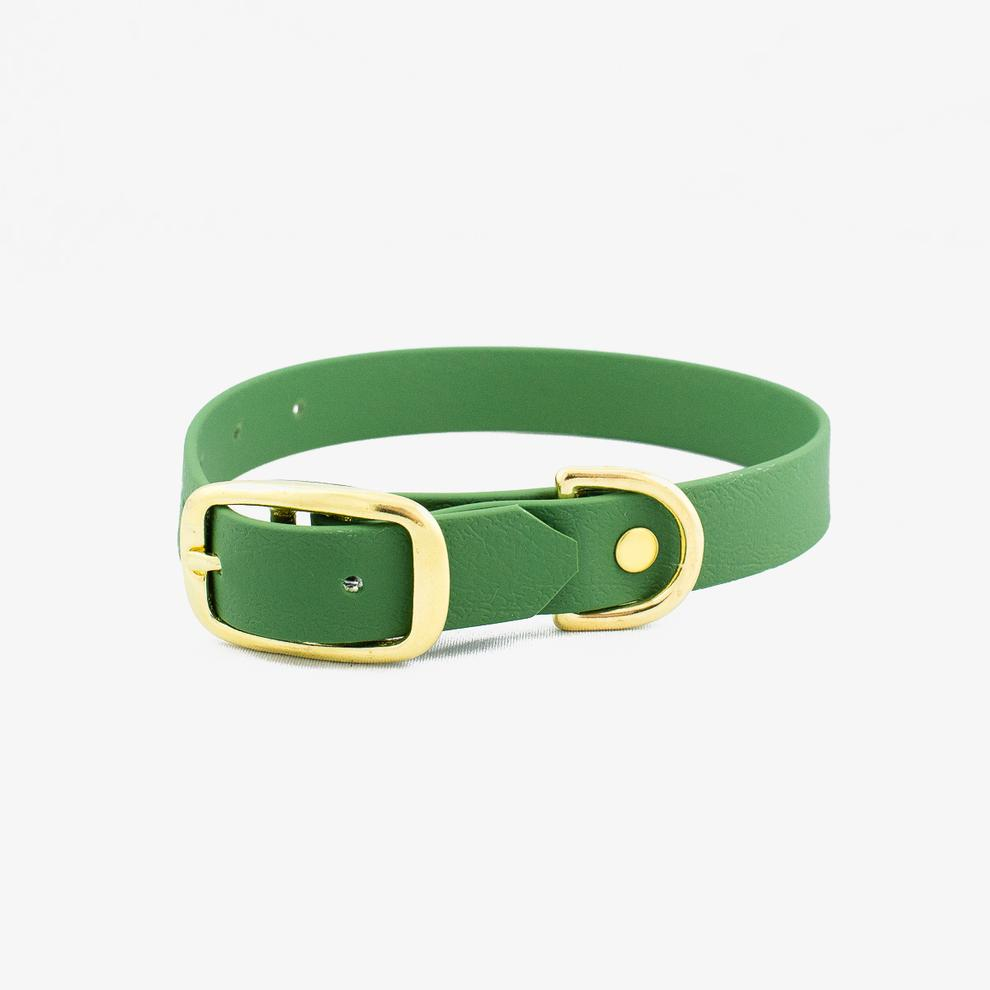 Vegan Leather Collar - Olive