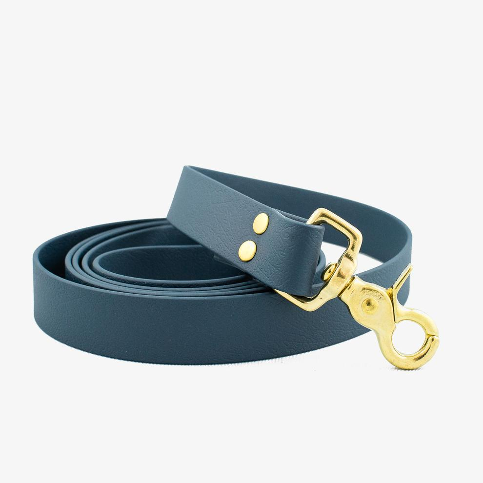 Vegan Leather Leash - Oxford Blue