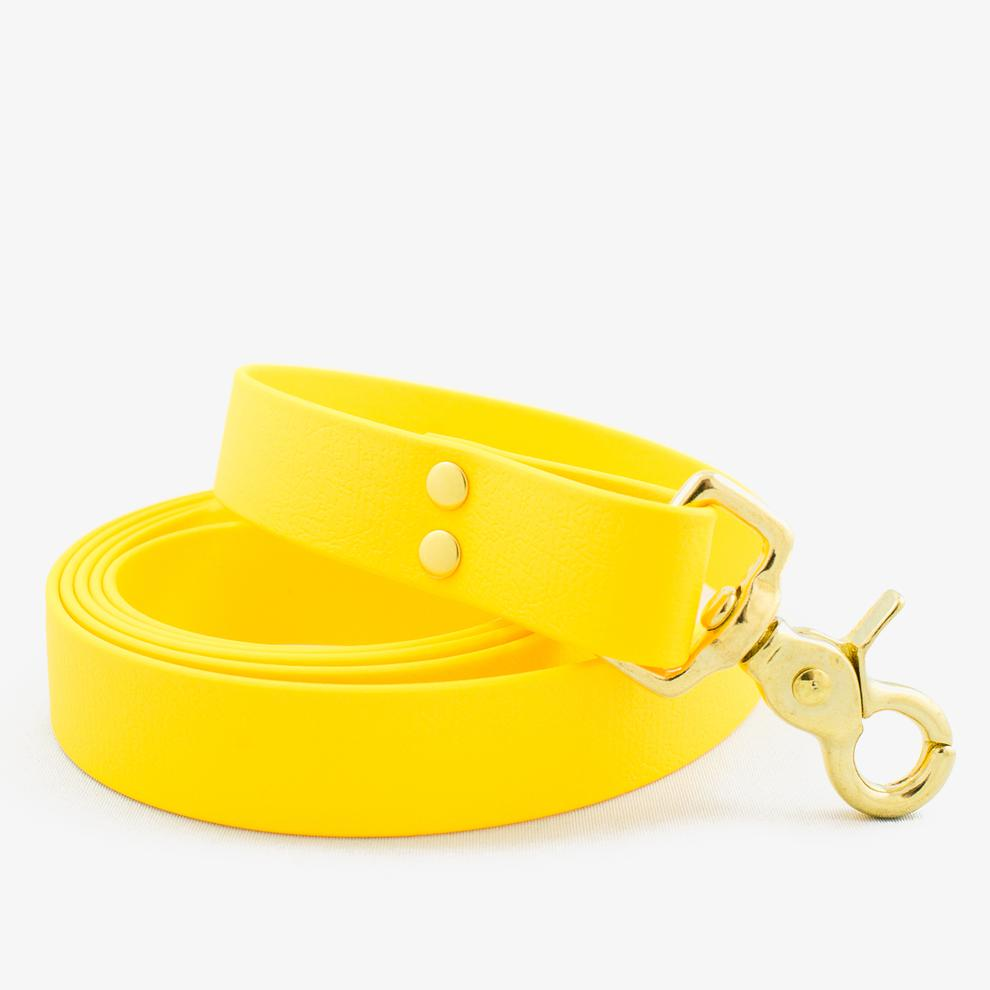 Vegan Leather Leash - Honey Yellow