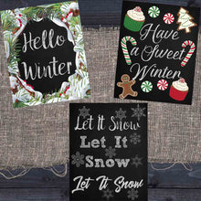 Load image into Gallery viewer, Winter Chalkboard Printables