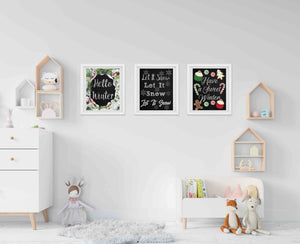 Winter Chalkboard Printables