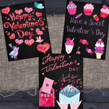 Load image into Gallery viewer, Valentine's Day Chalkboard Printables