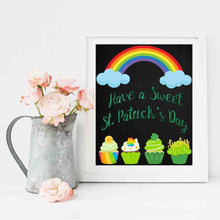 Load image into Gallery viewer, St. Patrick's Day Chalkboard Printables