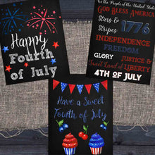 Load image into Gallery viewer, Fourth of July Chalkboard Printables