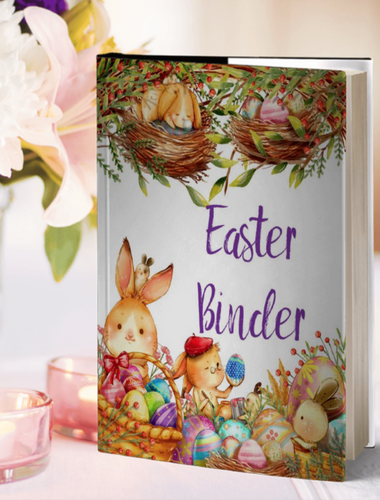 Easter Binder. 140+ pages of fabulous Easter content, including planner, games (maze, treasure hunt, scavenger hunt, bingo, and more), decor, food & drink decorations, and more.