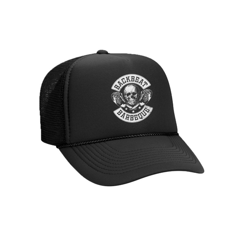 SKULL AND STEAK TRUCKER HAT