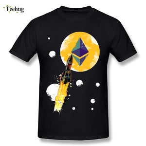 0a7a62dd New Arrival Man Up To The Moon Ethereum T Shirt Summer Streetwear Stylish  Cotton T- ...