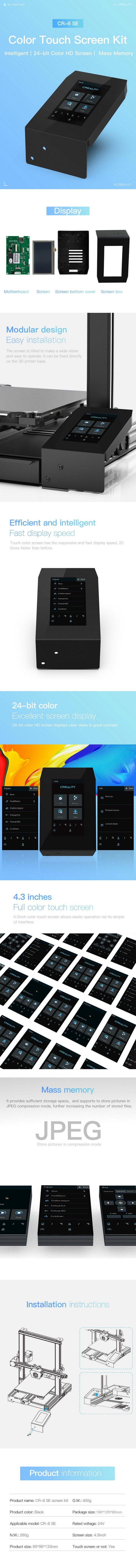Creality Color Touch Screen Kit for CR-6 SE 3D Printer