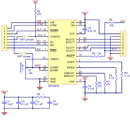 Schematic diagram for the DRV8834 low-voltage stepper motor driver carrier.