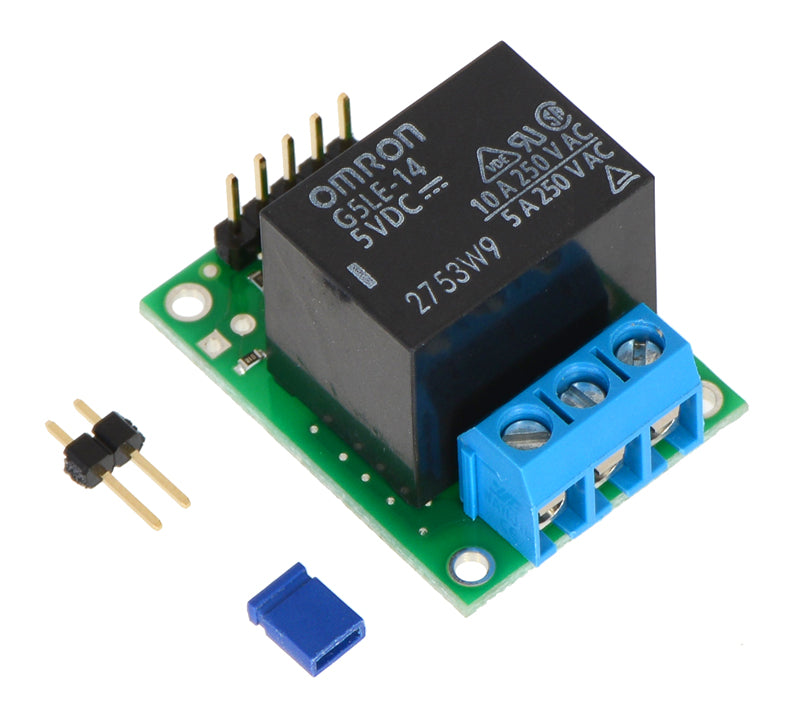 Pololu RC Switch with Relay (Assembled) with included hardware.