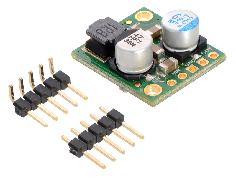 Pololu 5A Step-Down Voltage Regulator D24V50F5 with included hardware.
