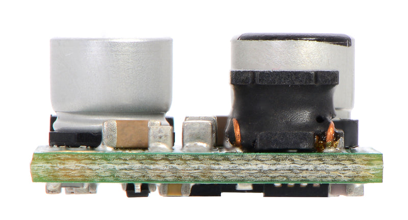 Pololu 5A Step-Down Voltage Regulator D24V50F5, side view.
