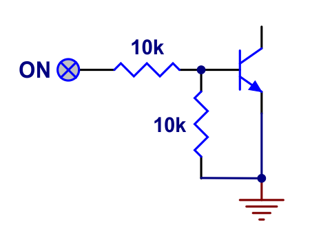 ON input structure of Pushbutton Power Switch with Reverse Voltage Protection.