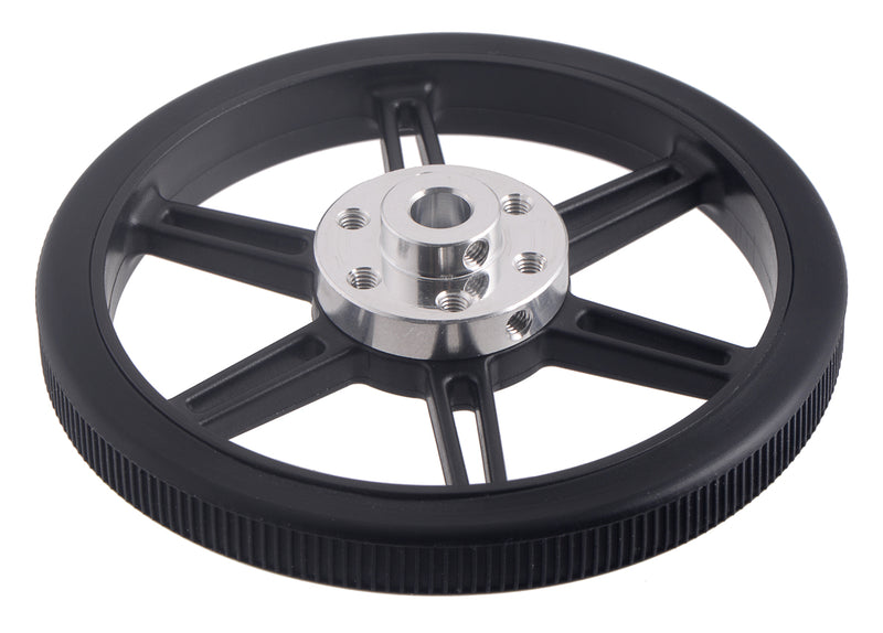 The Multi-Hub Wheels work with our 6mm, 8mm, and 1/4″ universal mounting hubs.