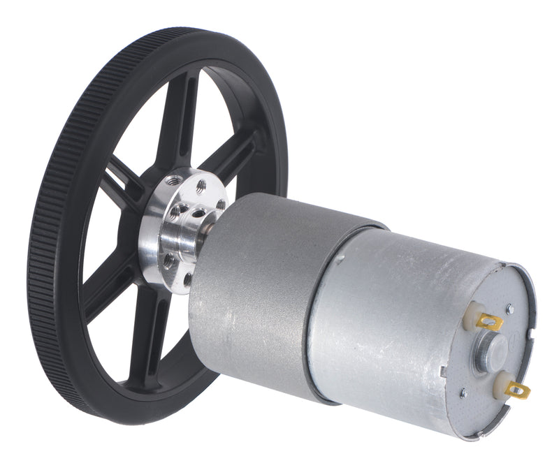 The Multi-Hub Wheels can be combined with our 6mm universal mounting hubs to work with 37D metal gearmotors.