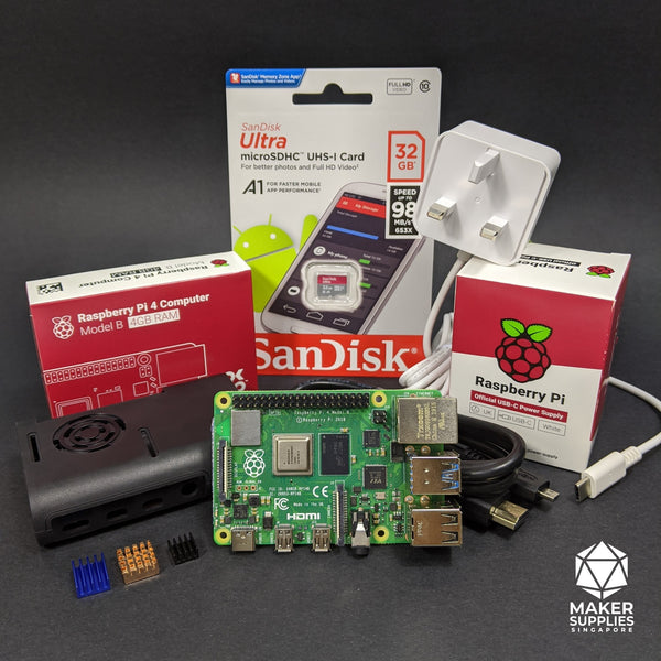 Raspberry Pi 4 Basic Bundle with ABS Plastic Casing