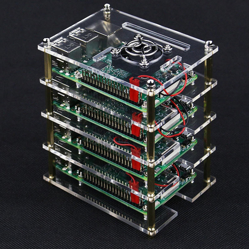 4 Layer Raspberry Pi Acrylic Casing with Cooling Fans