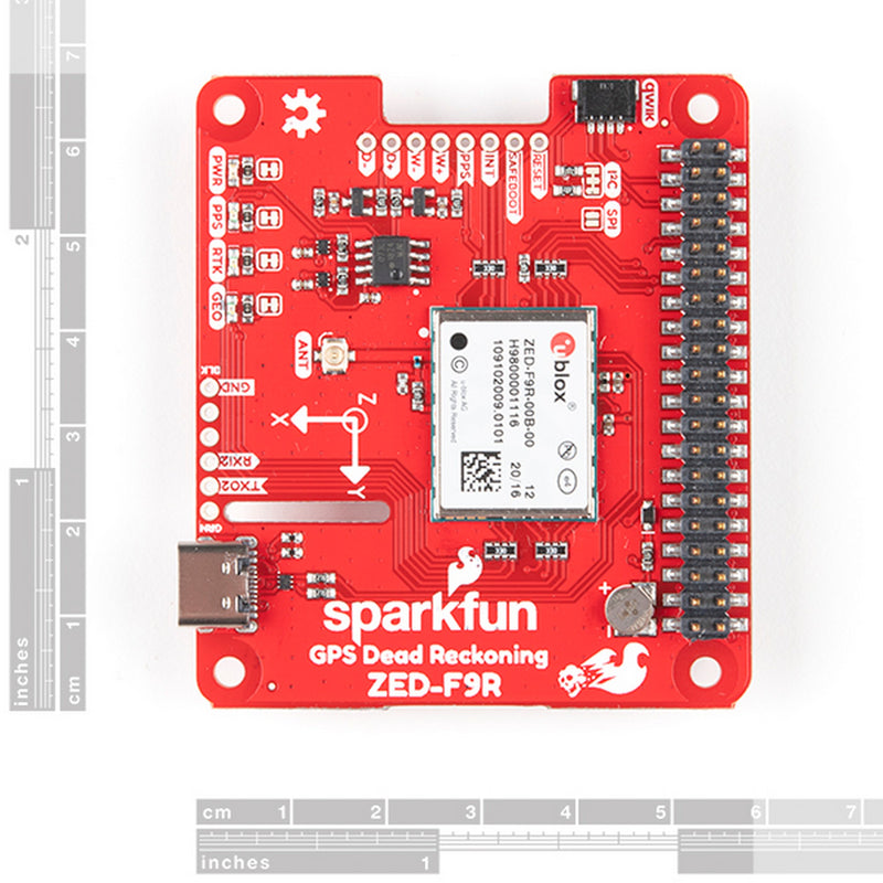 SparkFun GPS-RTK Dead Reckoning pHAT for Raspberry Pi GPS-16475