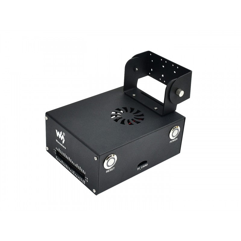 Aluminium Jetson Nano Casing with Camera Mount and PWM Cooling Fan (Compatible with both A02 and B01)