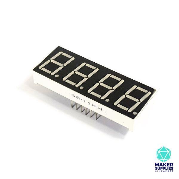 4 Digit 7 Segment Common Cathode LED Display (5641AH)