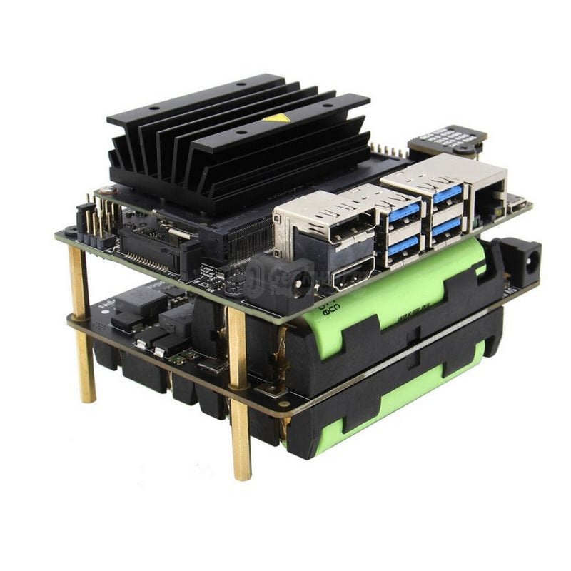 Geekworm T208 18650 UPS ( Max 5.1V 8A Output ) and Power Management Expansion Board for NVIDIA Jetson Nano