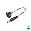 9V Battery Snap to 2.1mm DC Barrel Adaptor T Type