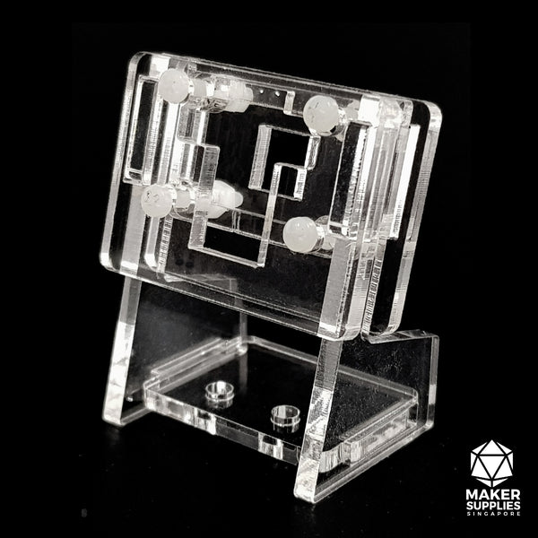 Clear Acrylic Camera Holder (for Raspberry Pi, Jetson Nano)