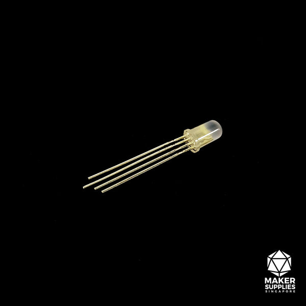 5mm Common Anode 4-pin Diffused RGB LED
