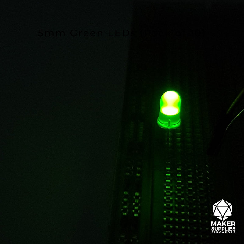 10pcs 5mm Green LED