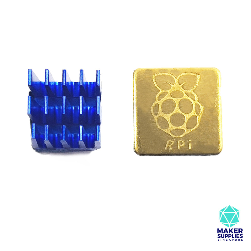 Raspberry Pi 3B 3B+ Heat Sinks (1 Copper, 1 Aluminium) Heatsink RPI 3 B B+ 2 Piece Cooling