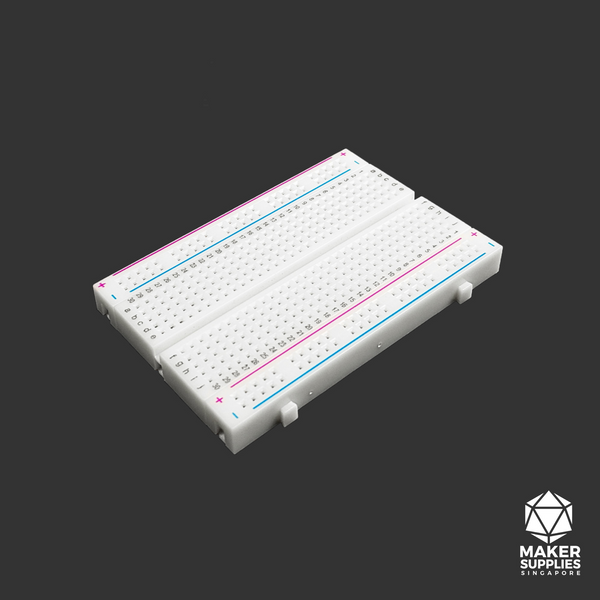 400 Tie Points White Solderless Breadboard