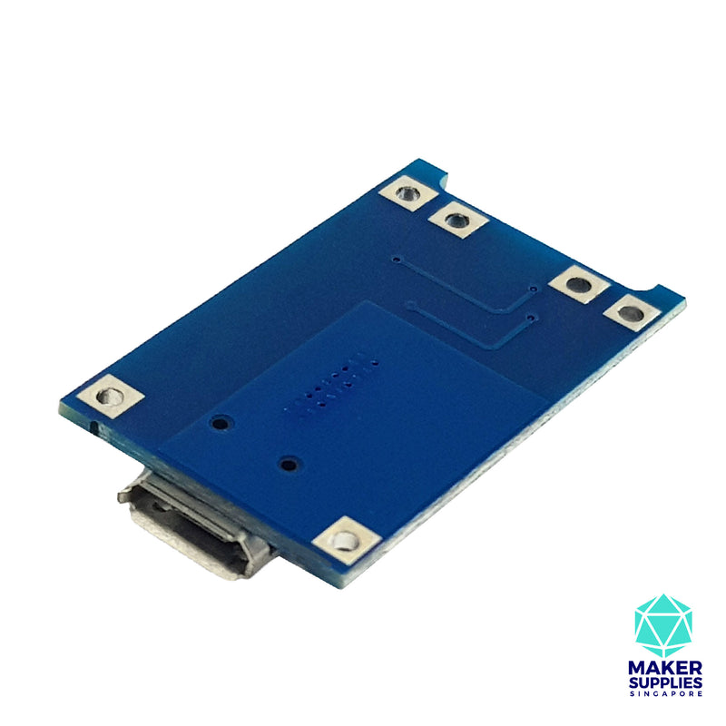 TP4056 1A Lithium Battery Charging Module with Output Protection (micro USB)