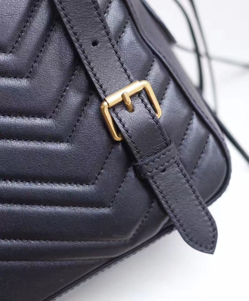75e4af9bac5395 ... Load image into Gallery viewer, GG Marmont Quilted Leather Backpack -  xvero ...