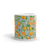 Blue Citrus Mug, Old Towne Orange