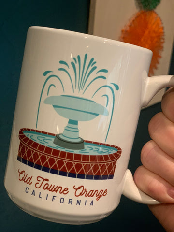Old Towne Orange Fountain Mug 15 oz
