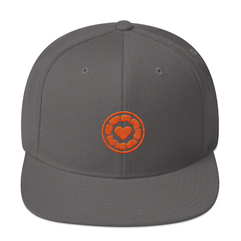 I Heart Orange - Embroidered Snapback Hat