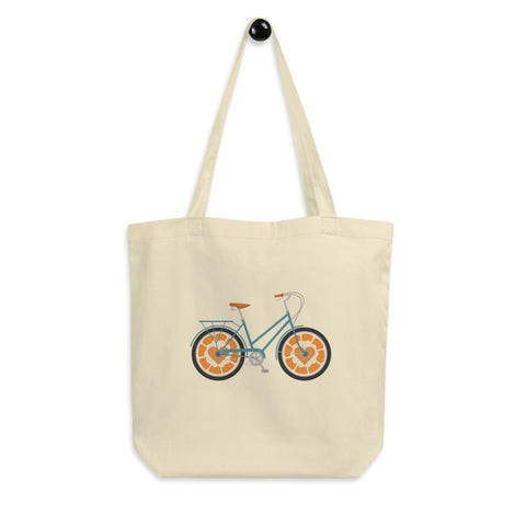Orange Bicycle Eco Tote Bag